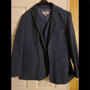 Men's two piece sports jacket and vest
